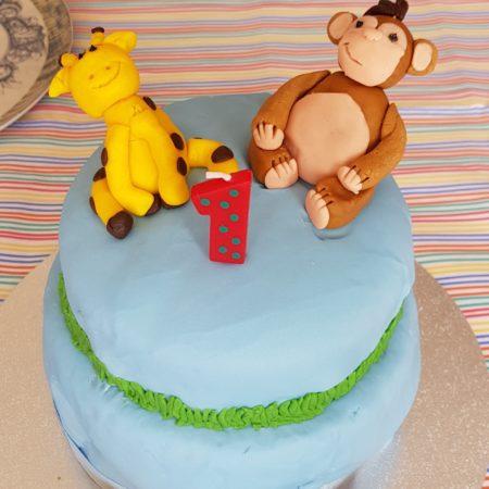 Pleasing Jungle Birthday Cake The Great British Bake Off Funny Birthday Cards Online Inifodamsfinfo