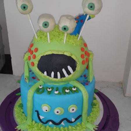 Superb Monster Birthday Cake The Great British Bake Off Personalised Birthday Cards Arneslily Jamesorg