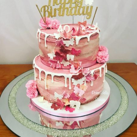 Astounding Butterfly Birthday Cake The Great British Bake Off Personalised Birthday Cards Petedlily Jamesorg