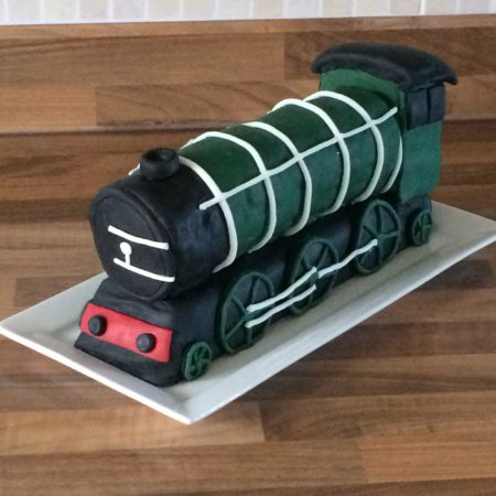 Pleasing 70Th Birthday Train Cake For Dad The Great British Bake Off Funny Birthday Cards Online Overcheapnameinfo