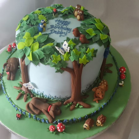 Superb Bluebell Woodland And Creatures The Great British Bake Off Funny Birthday Cards Online Alyptdamsfinfo