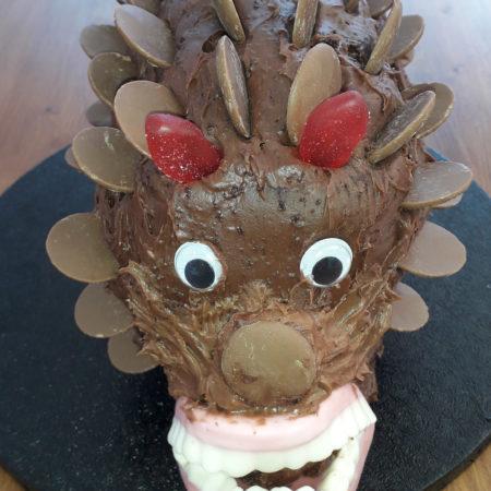 Astonishing Evil Hedgehog Birthday Cake The Great British Bake Off Funny Birthday Cards Online Inifodamsfinfo