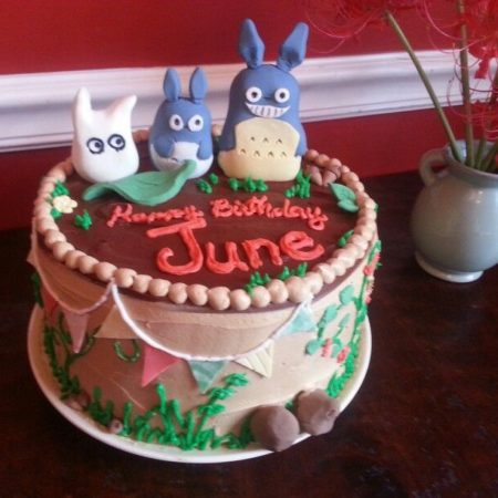 Awesome Totoro Birthday Cake For June The Great British Bake Off Funny Birthday Cards Online Aeocydamsfinfo
