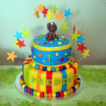 Stupendous Freddies First Birthday Cake The Great British Bake Off Funny Birthday Cards Online Alyptdamsfinfo