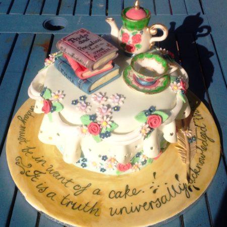 Groovy 40Th Birthday Jane Austin Cake The Great British Bake Off Funny Birthday Cards Online Fluifree Goldxyz