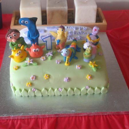 Jacks 1st Birthday Baby TV Cake The Great British Bake Off