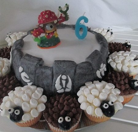 Wondrous Skylander Portal Birthday Cake The Great British Bake Off Personalised Birthday Cards Veneteletsinfo
