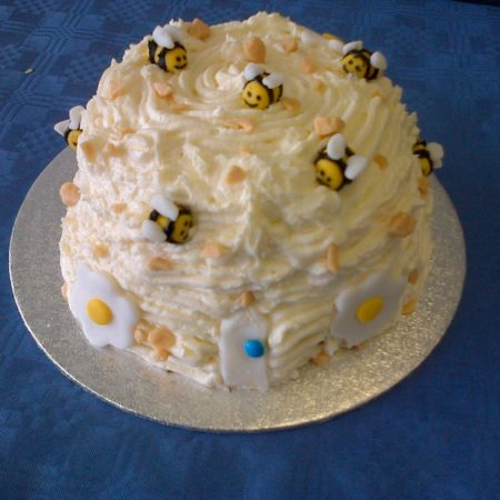 Fabulous Honey Bumble Bee Hive Cake The Great British Bake Off Personalised Birthday Cards Paralily Jamesorg