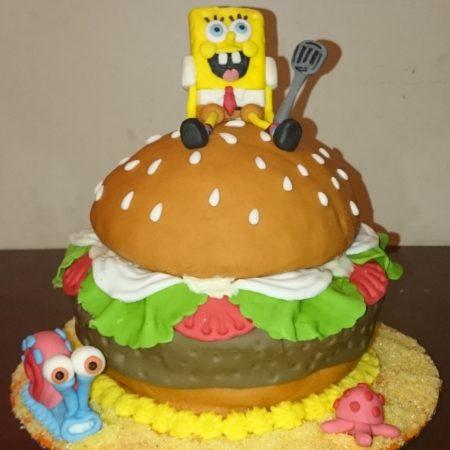 Strange Spongebob Birthday Cake The Great British Bake Off Funny Birthday Cards Online Alyptdamsfinfo