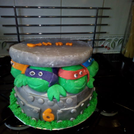 Incredible Ninja Turtle Birthday Cake The Great British Bake Off Funny Birthday Cards Online Necthendildamsfinfo