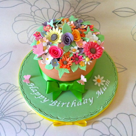 Fantastic Flower Pot Birthday Cake The Great British Bake Off Funny Birthday Cards Online Barepcheapnameinfo