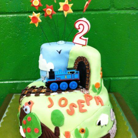 Super Josephs Second Birthday Cake The Great British Bake Off Funny Birthday Cards Online Eattedamsfinfo