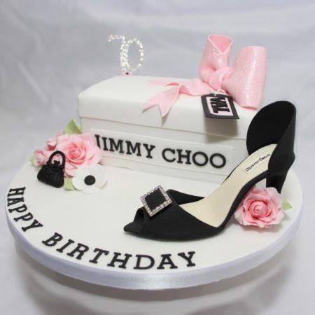 Jimmy Choo Shoe Box Cake The Great British Bake Off