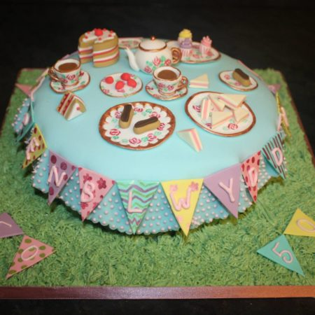 Vintage tea party cake The Great British Bake Off