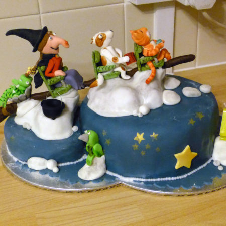 Room on the Broom cake | The Great British Bake Off