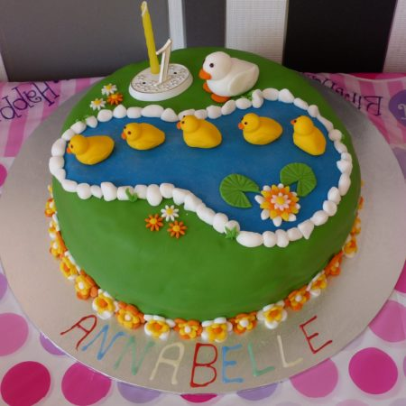 1st birthday 5 little ducks cake the great british bake off