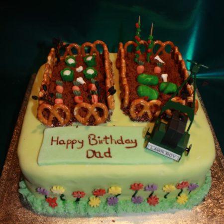 Awe Inspiring Garden Birthday Cake The Great British Bake Off Funny Birthday Cards Online Overcheapnameinfo