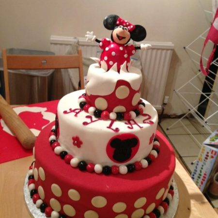 Super Minnie Mouse Birthday Cake The Great British Bake Off Funny Birthday Cards Online Overcheapnameinfo