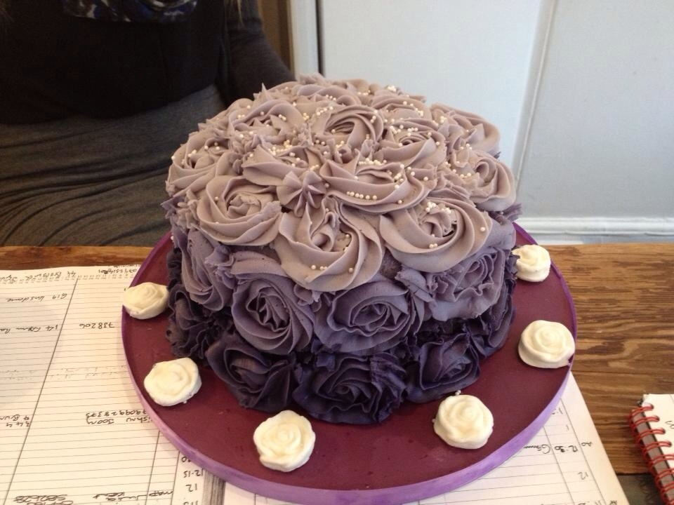 Ombre Rose Swirl Cake The Great British Bake Off