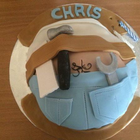 Peachy Husbands Birthday Cake The Great British Bake Off Funny Birthday Cards Online Fluifree Goldxyz