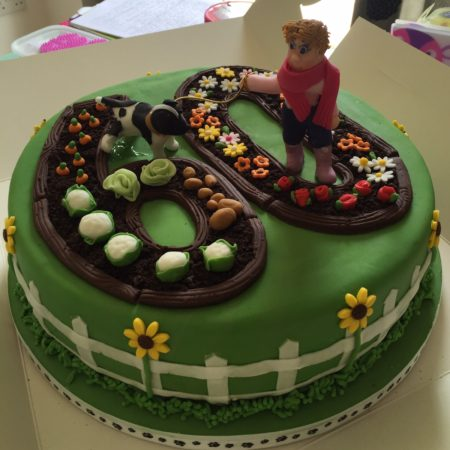 Chocolate, Dog loving, gardener cake | The Great British Bake Off