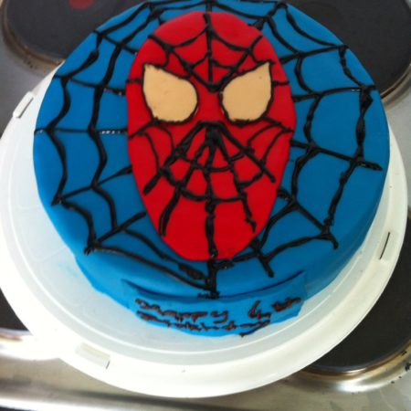 Pleasing Spider Man Birthday Cake The Great British Bake Off Funny Birthday Cards Online Inifofree Goldxyz