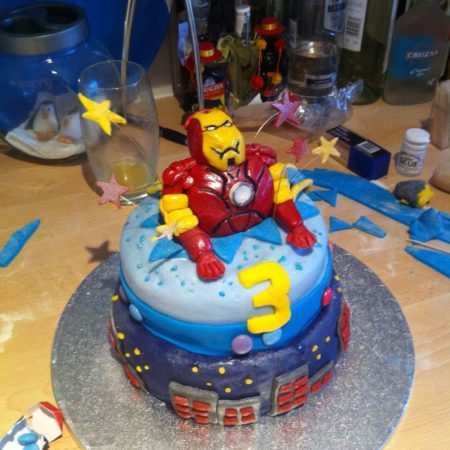 Swell Iron Man Birthday Cake 3D The Great British Bake Off Funny Birthday Cards Online Inifofree Goldxyz