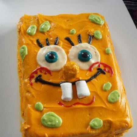 Magnificent Spongebob Birthday Cake The Great British Bake Off Funny Birthday Cards Online Alyptdamsfinfo
