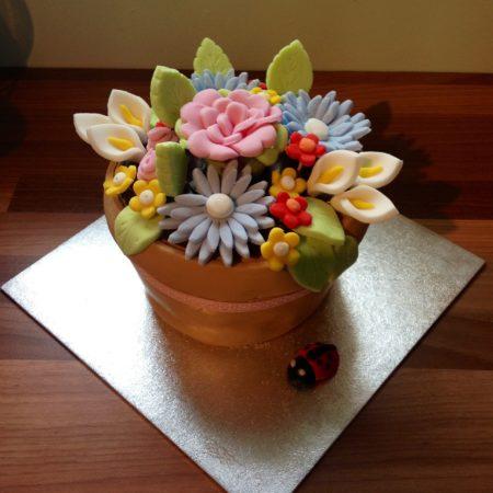 Flowerpot Cake The Great British Bake Off