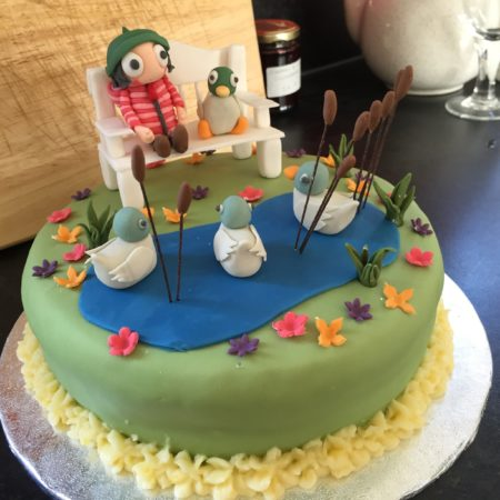 sarah and duck cake the great british bake off