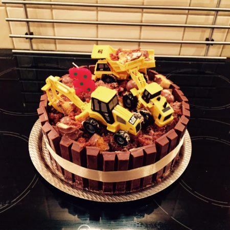 Fantastic Digger Birthday Cake The Great British Bake Off Funny Birthday Cards Online Necthendildamsfinfo