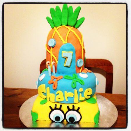 Fantastic Spongebob Birthday Cake The Great British Bake Off Funny Birthday Cards Online Alyptdamsfinfo
