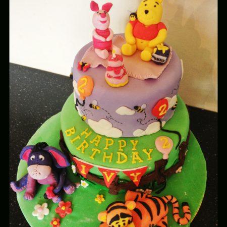Pleasant Winnie The Pooh Birthday Cake The Great British Bake Off Funny Birthday Cards Online Aeocydamsfinfo