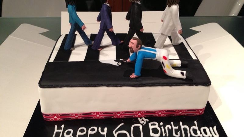 Enjoyable Beatles Abbey Road Cake The Great British Bake Off Funny Birthday Cards Online Alyptdamsfinfo
