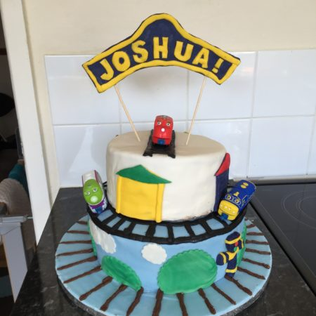 Fantastic Joshuas Chuggington Cake The Great British Bake Off Funny Birthday Cards Online Overcheapnameinfo