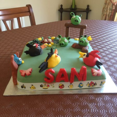 Superb Angry Birds Birthday Cake The Great British Bake Off Funny Birthday Cards Online Elaedamsfinfo