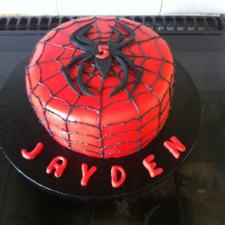 Groovy Spiderman Birthday Cake The Great British Bake Off Personalised Birthday Cards Beptaeletsinfo