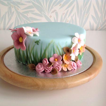 Garden Birthday Cake For Mum The Great British Bake Off