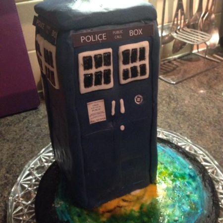 Cool Tardis Birthday Cake The Great British Bake Off Funny Birthday Cards Online Inifodamsfinfo