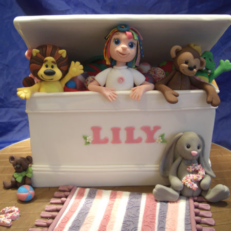 Lilys toy box cake The Great British Bake Off